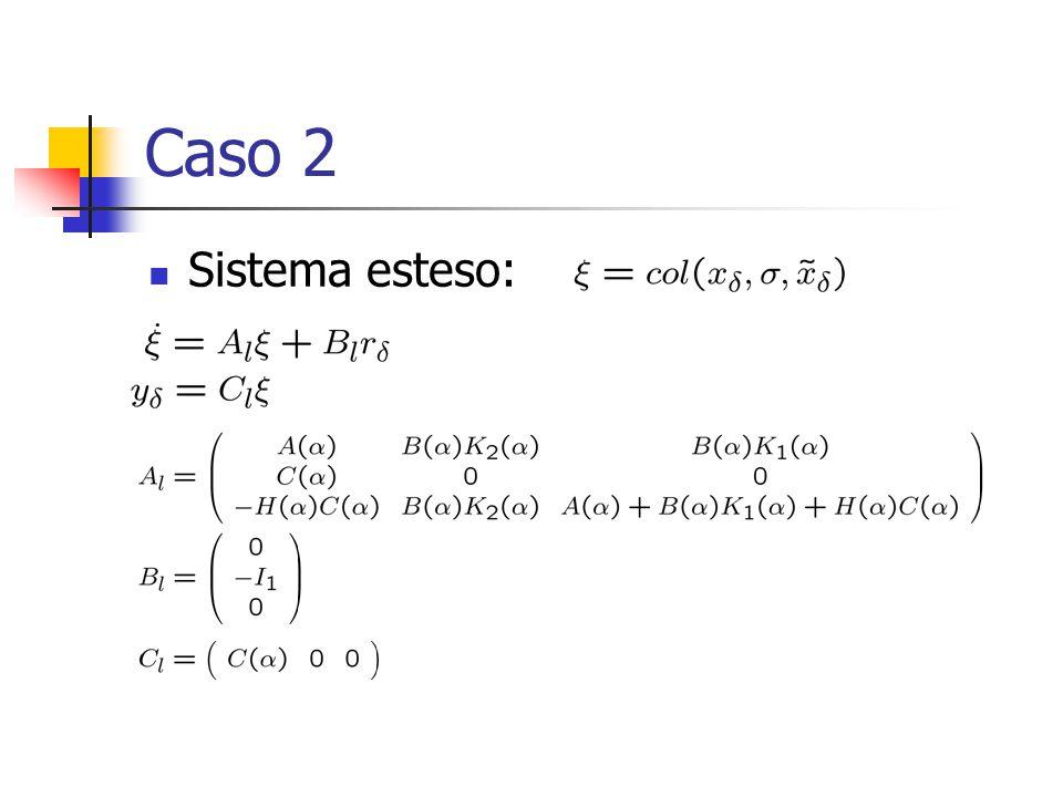 Caso 2 Sistema esteso: