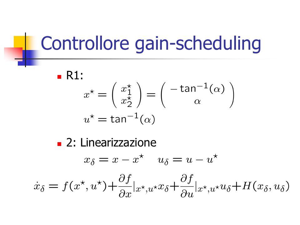 Controllore gain-scheduling R1: 2: Linearizzazione