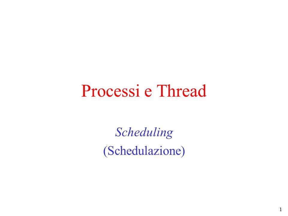 1 Processi e Thread Scheduling (Schedulazione)