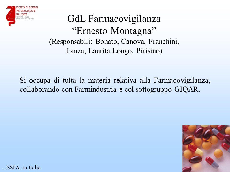 """Si occupa di tutta la materia relativa alla Farmacovigilanza, collaborando con Farmindustria e col sottogruppo GIQAR. 16 GdL Farmacovigilanza """"Ernesto"""