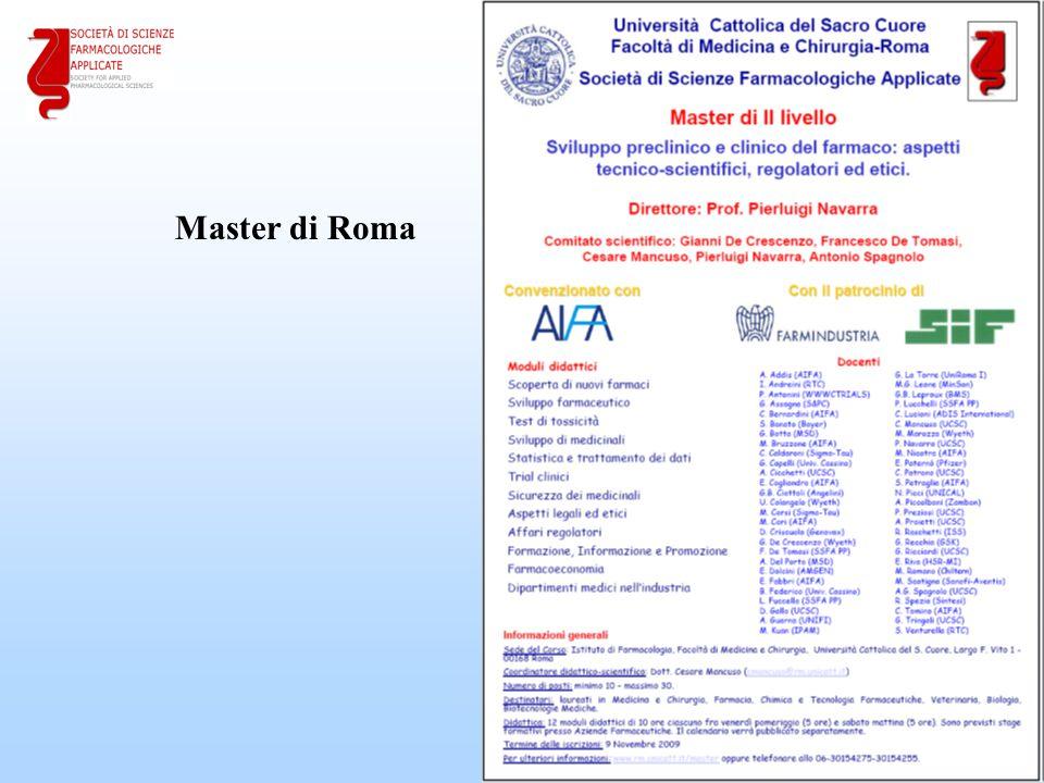 22 Master di Roma