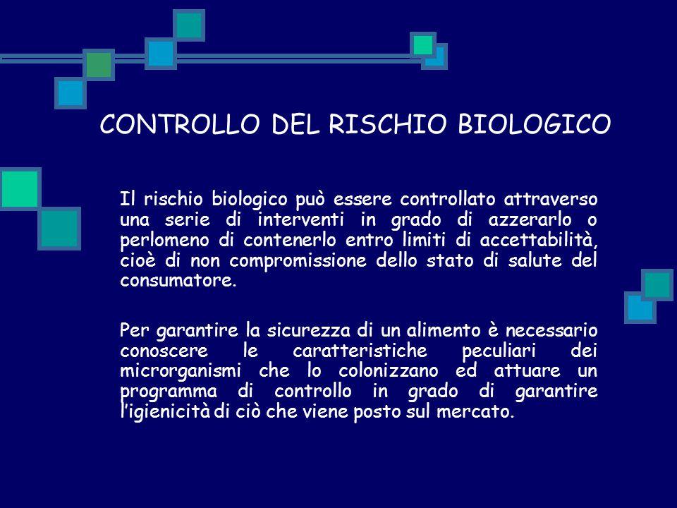 CONTROLLO DEL RISCHIO BIOLOGICO Il rischio biologico può essere controllato attraverso una serie di interventi in grado di azzerarlo o perlomeno di co