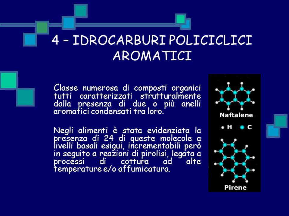 4 – IDROCARBURI POLICICLICI AROMATICI C lasse numerosa di composti organici tutti caratterizzati strutturalmente dalla presenza di due o più anelli ar