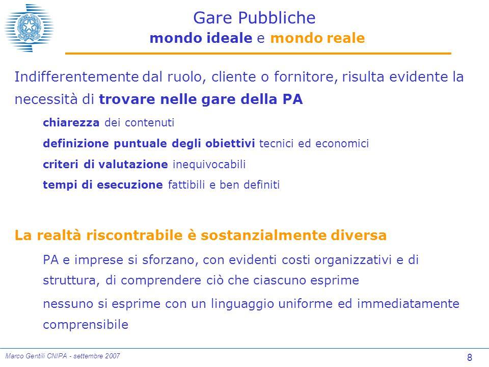 39 Marco Gentili CNIPA - settembre 2007 Adozione contromisure di contenimento rischi Correlazione con SAL e Ritardo Contromisure adeguate diminuiscono il ritardo