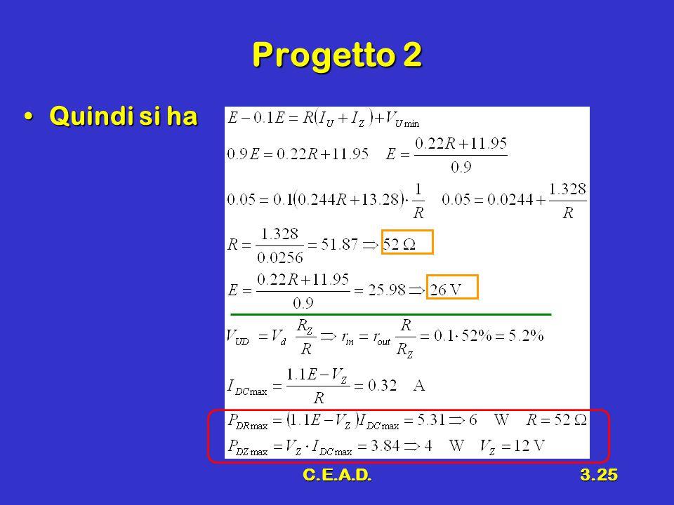 C.E.A.D.3.25 Progetto 2 Quindi si haQuindi si ha