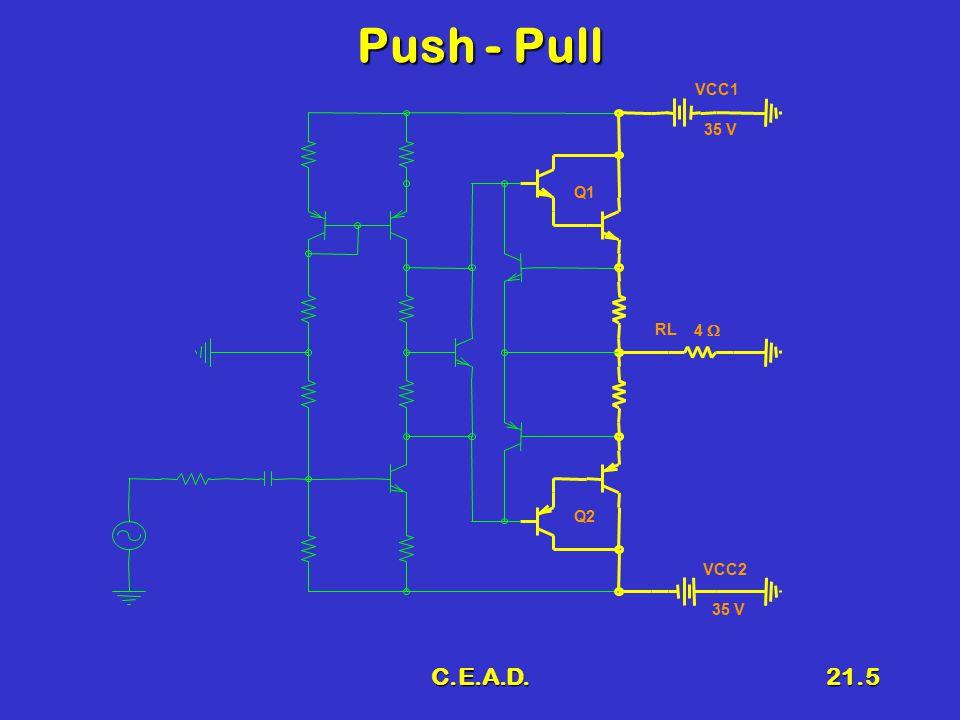 C.E.A.D.21.5 Push - Pull Q1 RL 4  VCC1 35 V VCC2 35 V Q2