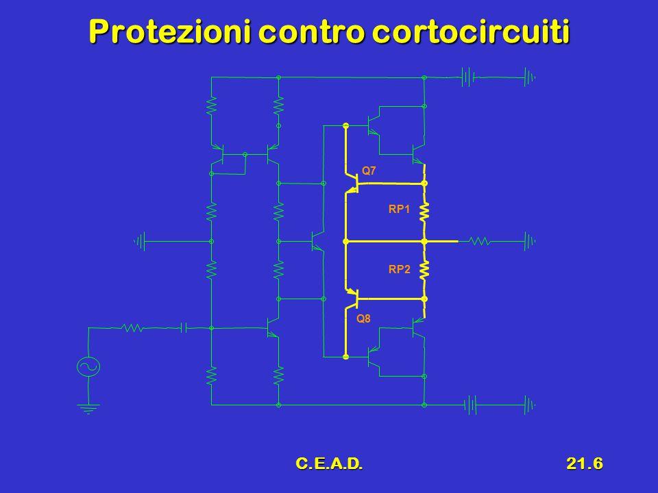 C.E.A.D.21.17 7 Progetto delle resistenze (') Protezione in corrente (I Umax = 8 A)Protezione in corrente (I Umax = 8 A) Partitore R A, R BPartitore R A, R B RP1 RP2 RA RB Pot.