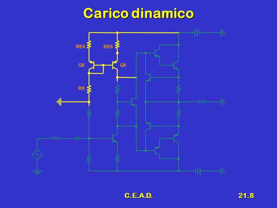 C.E.A.D.21.19 7 Progetto delle resistenze (''') R KR K R 1 e R 2 (partitore pesante)R 1 e R 2 (partitore pesante) RK VCC2 R2 R1 Pot.