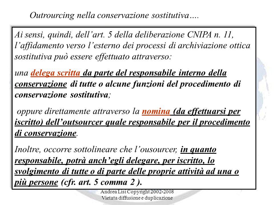 Andrea Lisi Copyright 2002-2008 Vietata diffusione e duplicazione Ai sensi, quindi, dell'art.