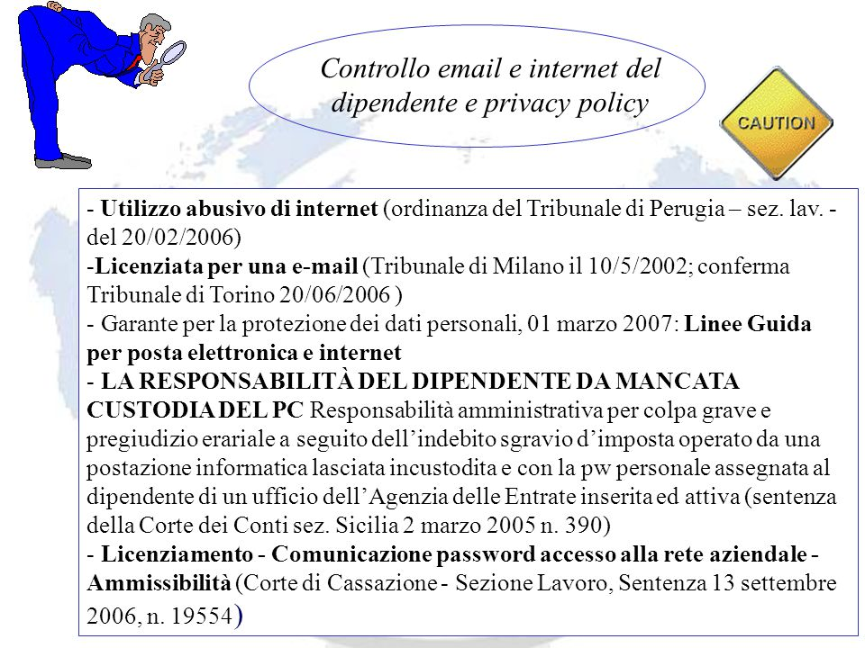 Andrea Lisi Copyright 2002-2008 Vietata diffusione e duplicazione - Utilizzo abusivo di internet (ordinanza del Tribunale di Perugia – sez.