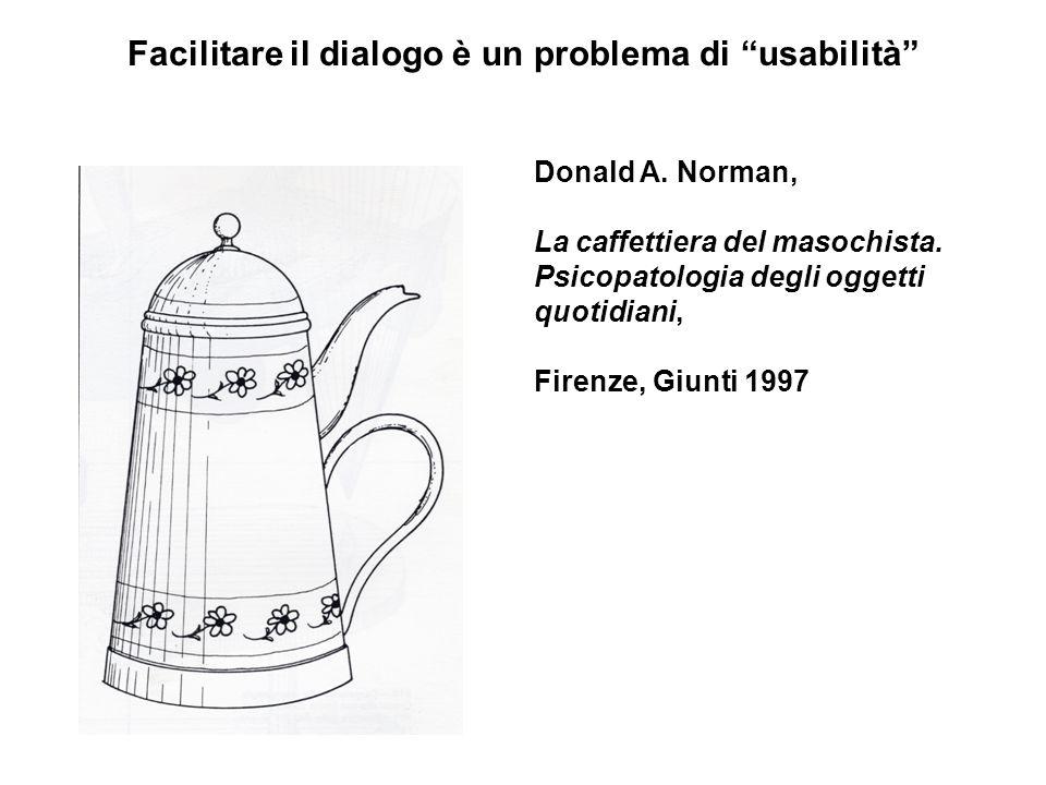 Facilitare il dialogo è un problema di usabilità Donald A.