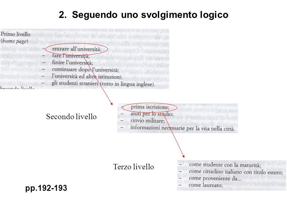 Secondo livello Terzo livello pp.192-193