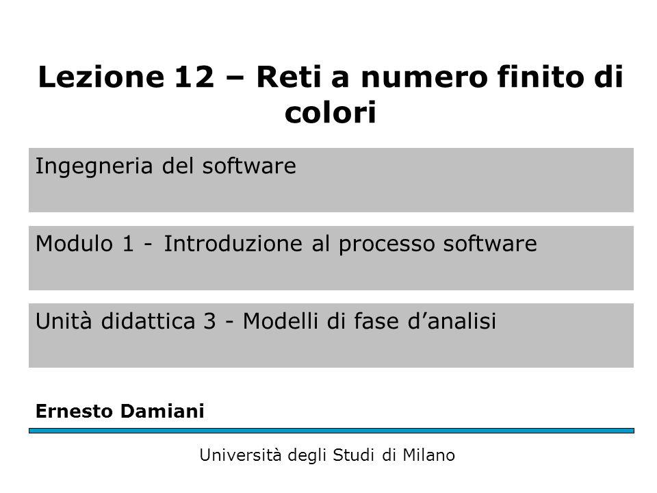 Reti con un numero finito di colori (1) Consideriamo due casi: un numero finito di colori e un numero infinito di colori.