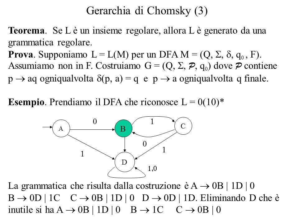 Gerarchia di Chomsky (3) Teorema.