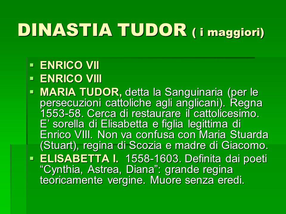 LA DINASTIA STUART – 1.GGGGLI STUART PROVENGONO DALLA SCOZIA, ALLORA DIVISA DALL'INGHILTERRA.