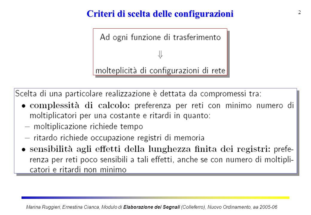 2 Criteri di scelta delle configurazioni