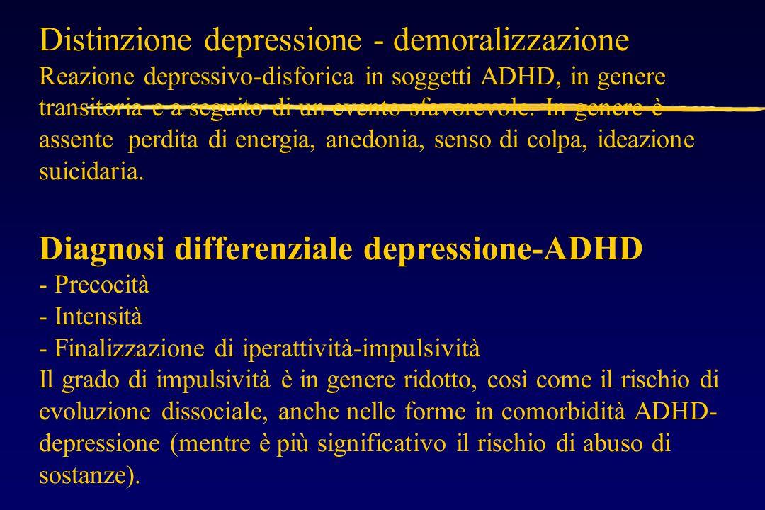 Reazione depressivo-disforica in soggetti ADHD, in genere transitoria e a seguito di un evento sfavorevole.