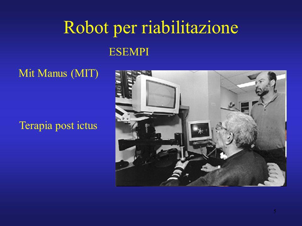 5 Robot per riabilitazione Mit Manus (MIT) ESEMPI Terapia post ictus