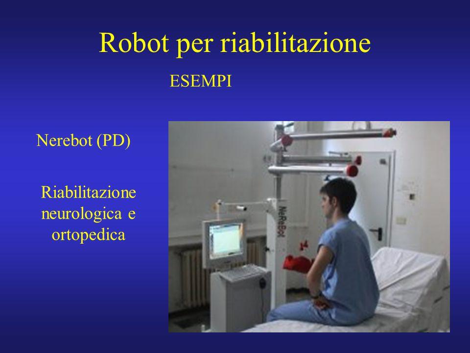 6 Robot per riabilitazione Nerebot (PD) ESEMPI Riabilitazione neurologica e ortopedica