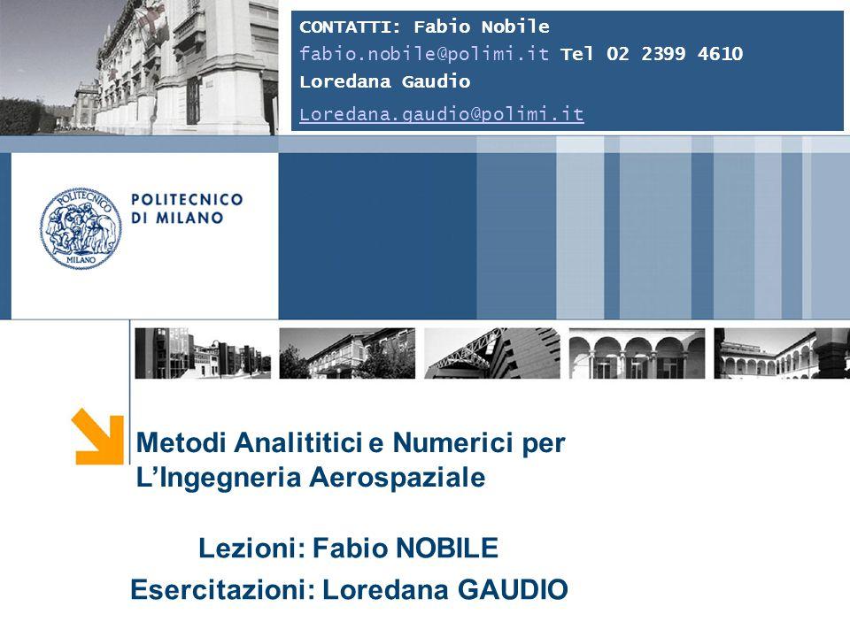Fabio Nobile 2 Soluzione numerica delle equazioni della fluidodinamica Esempio: Lockheed X-15