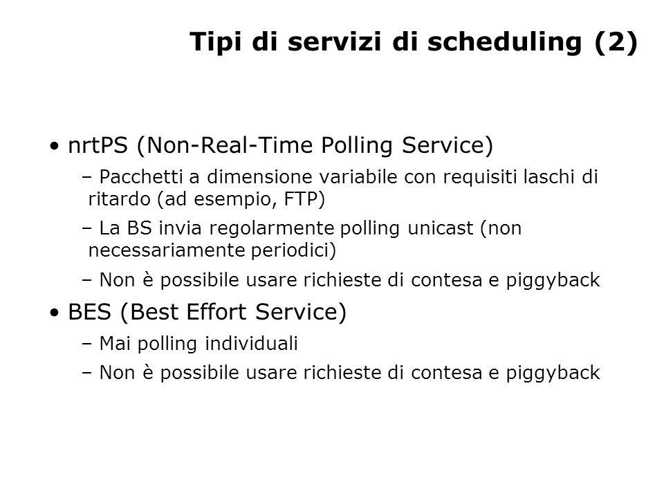 Tipi di servizi di scheduling (3) FINE