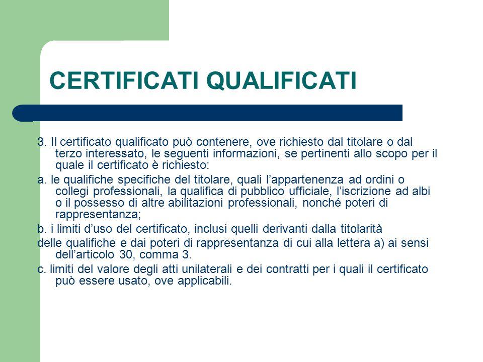 CERTIFICATI QUALIFICATI 3.