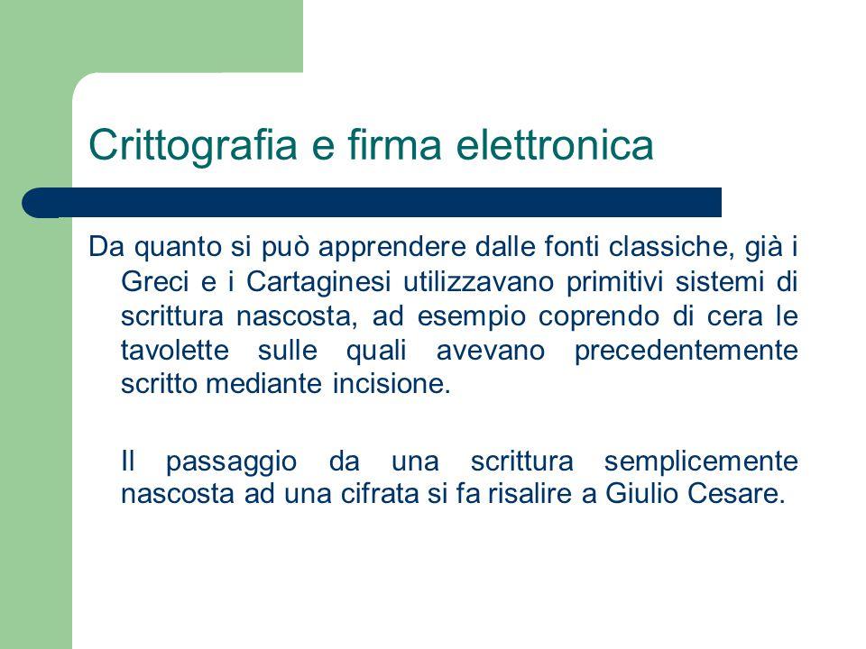 La firma digitale Decreto del Presidente della Repubblica 7 aprile 2003, n.137 Regolamento recante disposizioni di coordinamento in materia di firme elettroniche a norma dell'art.13 del decreto legislativo 23 gennaio 2002, n.10 Art.