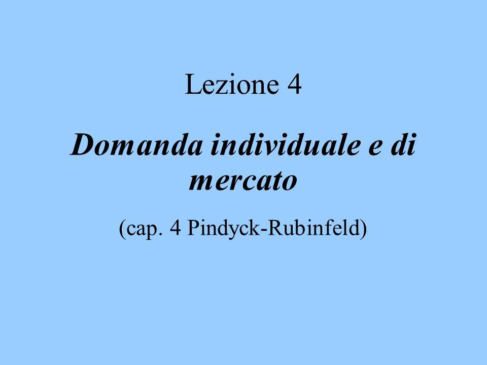 Lezione 4 Domanda individuale e di mercato (cap. 4 Pindyck-Rubinfeld)