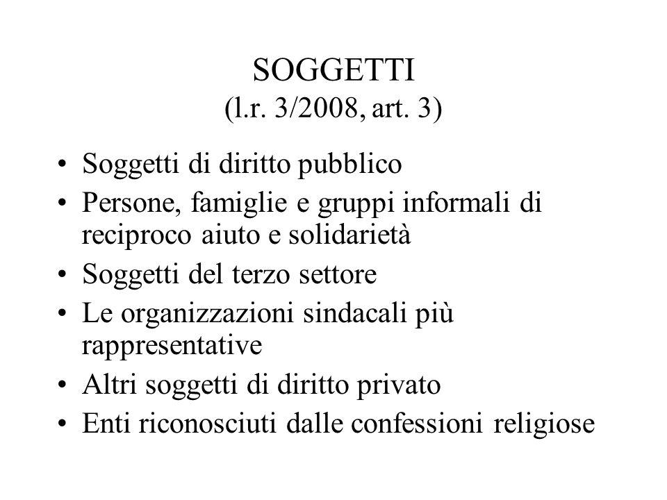 SOGGETTI (l.r. 3/2008, art.