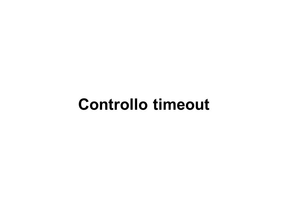 Controllo timeout