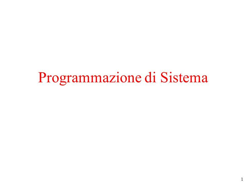 62 Attributi : stat() (3) struct stat info; IFERROR(stat( dati ,&info), In stat ); if (S_ISLNK(info.st_mode)){/* link simbolico*/} if (S_ISREG(info.st_mode)){/* file regolare*/} if (S_ISDIR(info.st_mode)){/* directory */} if (S_ISCHR(info.st_mode)){/* spec caratteri */} if (S_ISBLK(info.st_mode)){/* spec blocchi */} if (info.st_mode & S_IRUSR){/* r per owner */} if (info.st_mode & S_IWGRP){/* w per group */}