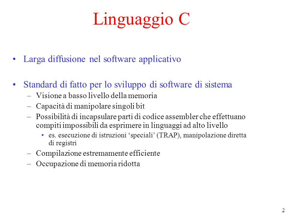 23 Argomenti della linea di comando (2) Un esempio : %> a.out una stringa per a.out 5 argc argv p er \O a.o ut s tr in g u na a a.o ut argv[0]