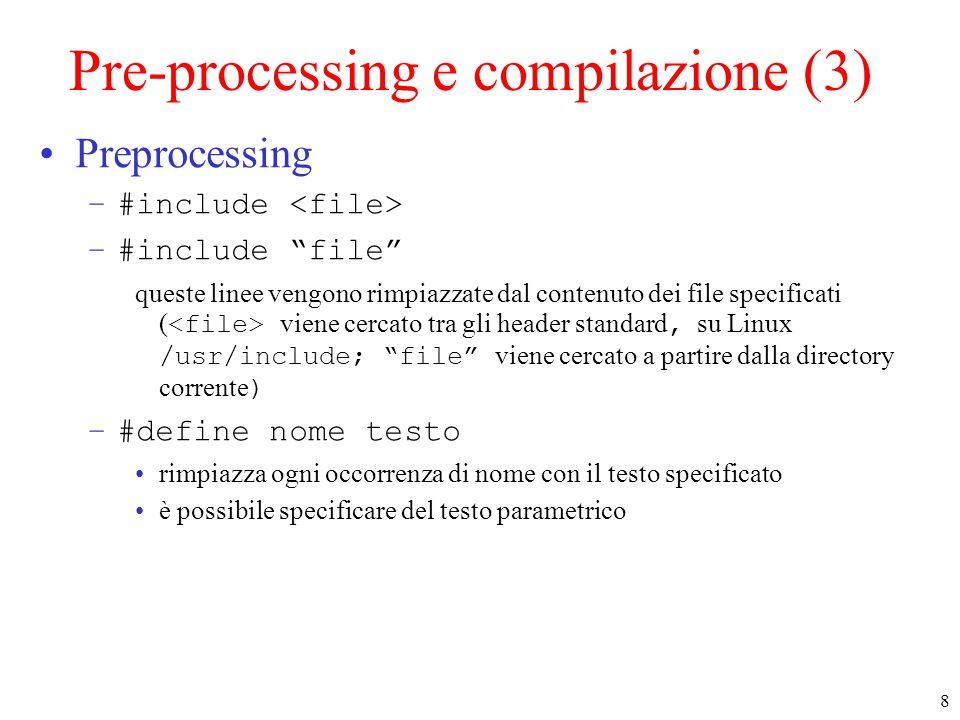 59 Posizionamento : lseek() off_t lseek(int fd, off_t offset, int whence) –fd : file descriptor –offset : di quanti byte voglio spostarmi –whence : da dove calcolo lo spostamento.