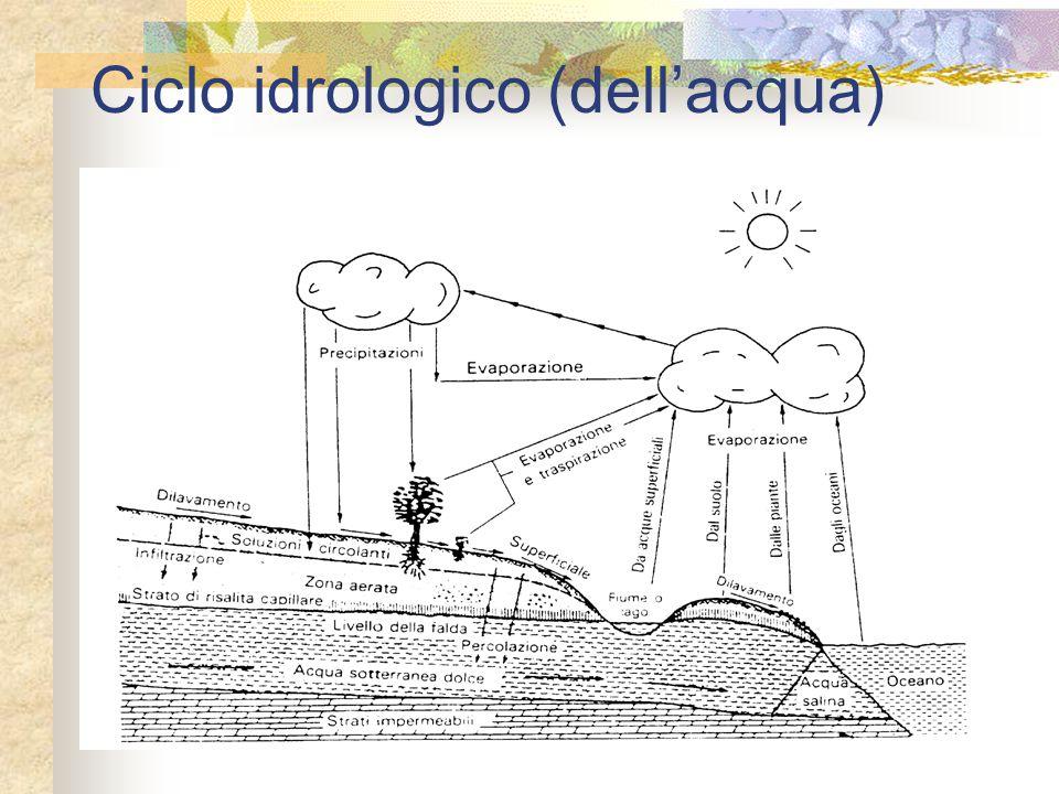 Ciclo idrologico (dell'acqua)