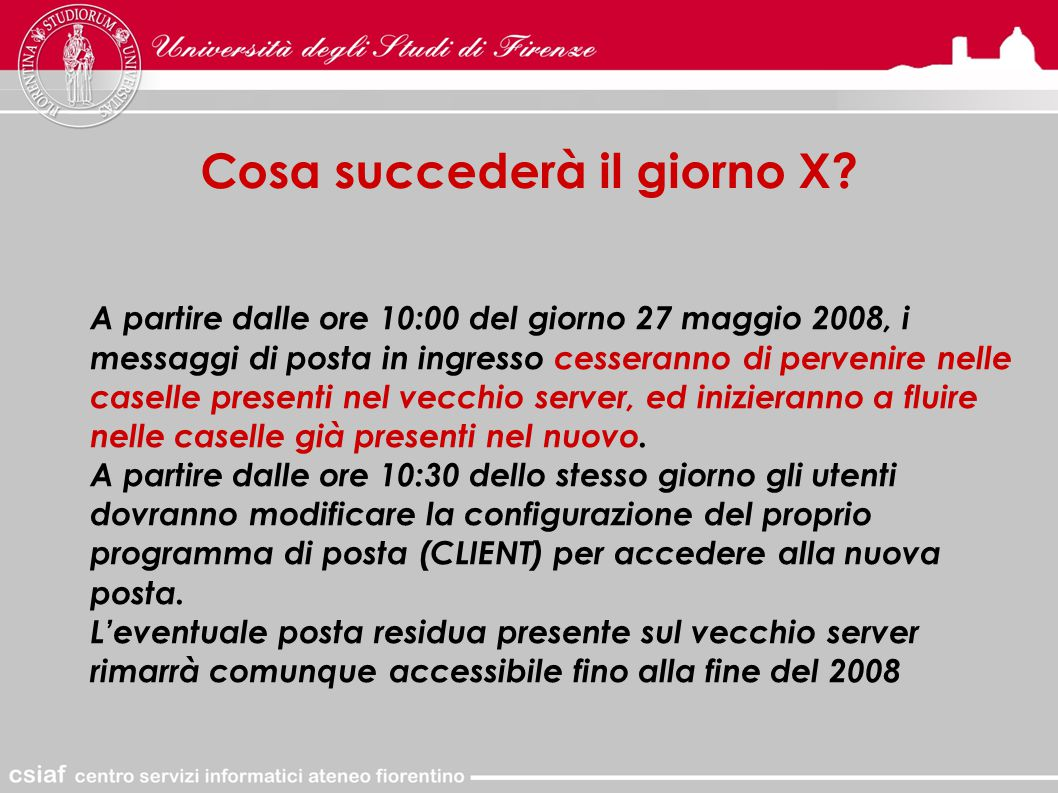 Client POP3: come modificare Outlook Express Per prima cosa è necessario cambiare la PASSWORD DI RESET con quella DI LAVORO mediante WEBMAIL.