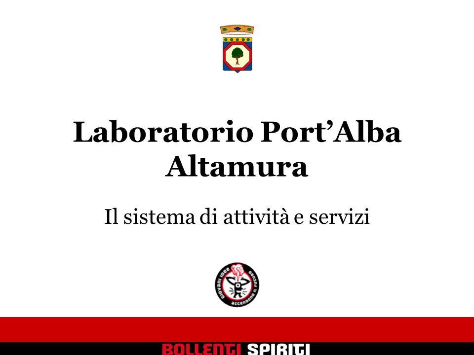 Laboratorio Port'Alba Altamura Il sistema di attività e servizi