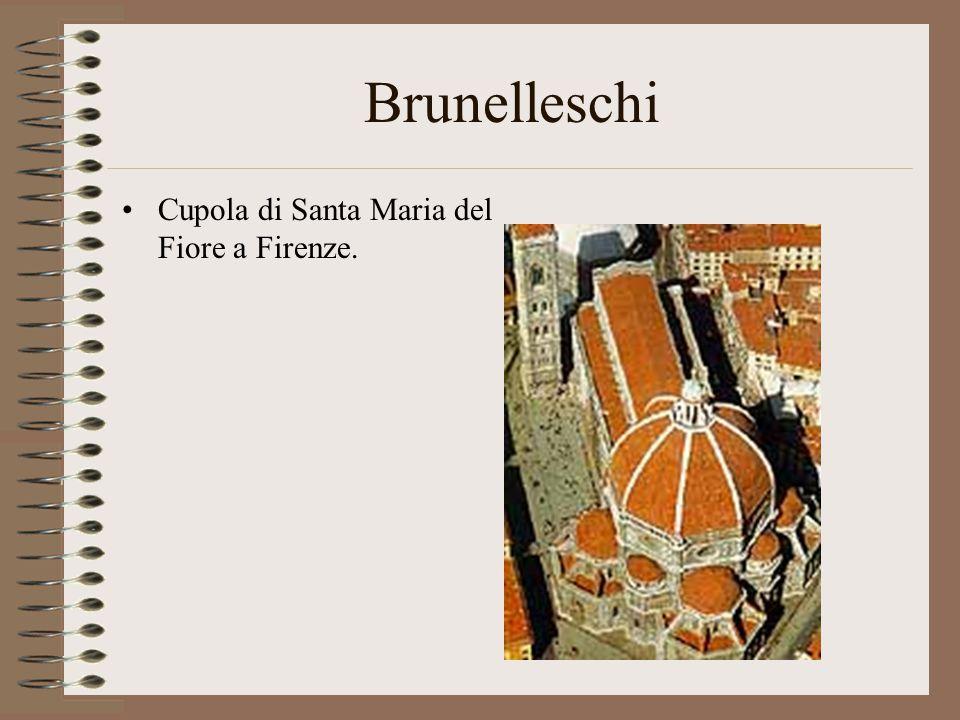 Brunelleschi Cupola di Santa Maria del Fiore a Firenze.