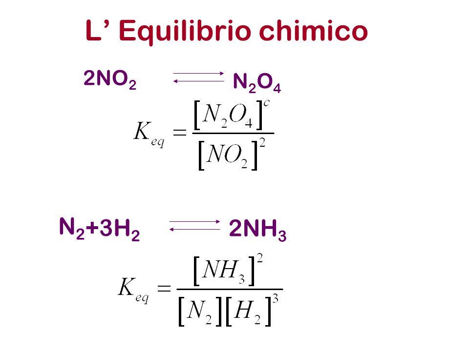 L' Equilibrio chimico 2NO 2 N2O4N2O4 N2N2 2NH 3 +3H 2