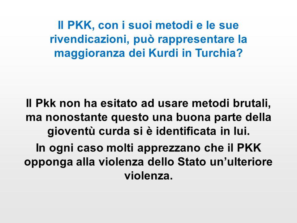 Il PKK, con i suoi metodi e le sue rivendicazioni, può rappresentare la maggioranza dei Kurdi in Turchia.