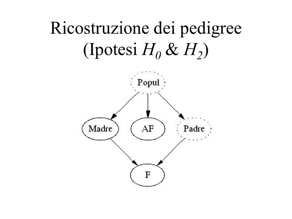 Ricostruzione dei pedigree (Ipotesi H 0 & H 2 )
