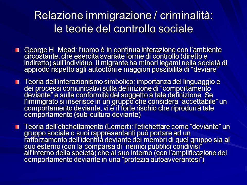 Per ulteriori approfondimenti… MELOSSI Dario – Stato, controllo sociale e devianza , Milano, Bruno Mondadori, 2002