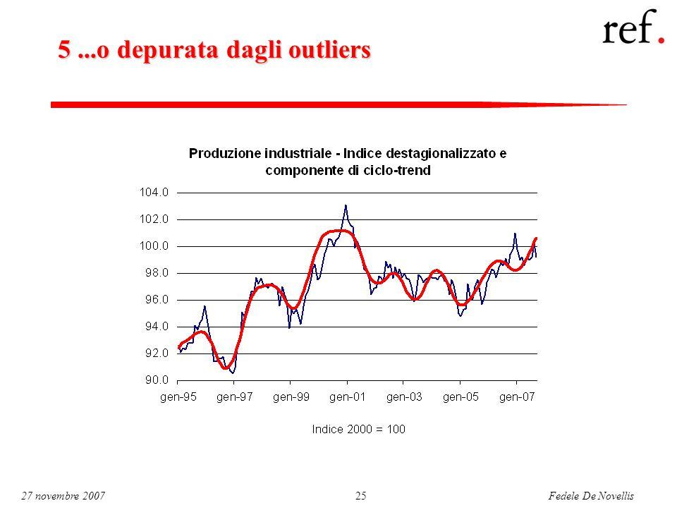 Fedele De Novellis 27 novembre 200725 5...o depurata dagli outliers