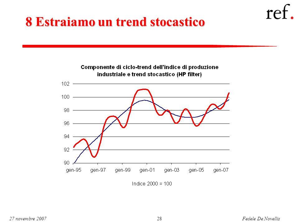 Fedele De Novellis 27 novembre 200728 8 Estraiamo un trend stocastico