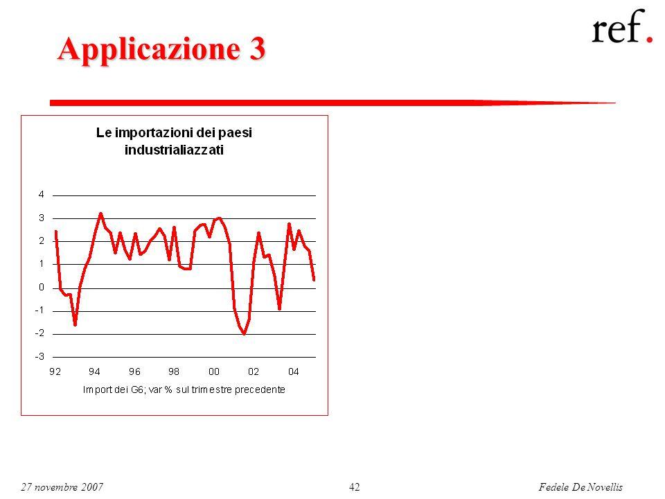 Fedele De Novellis 27 novembre 200742 Applicazione 3