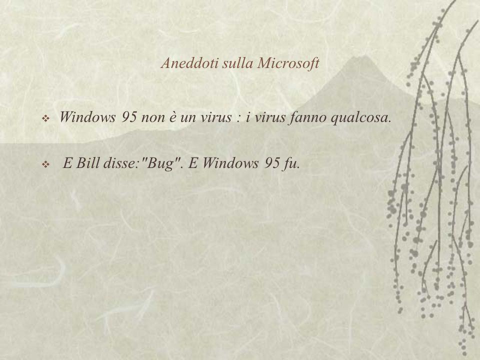 Aneddoti sulla Microsoft  Windows 95 non è un virus : i virus fanno qualcosa.
