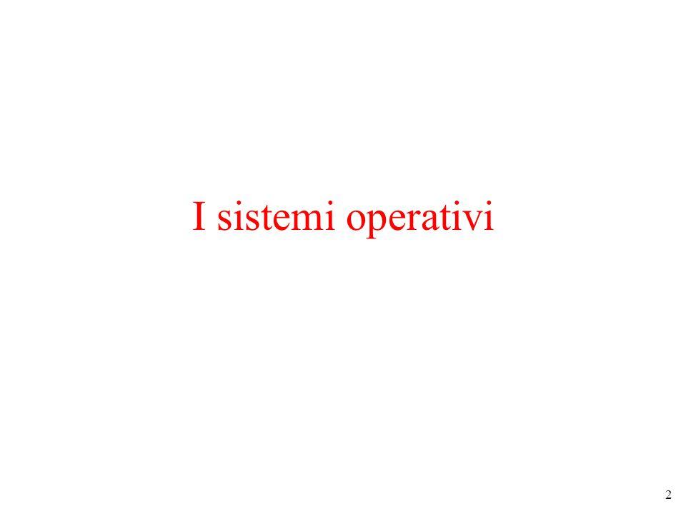 2 I sistemi operativi