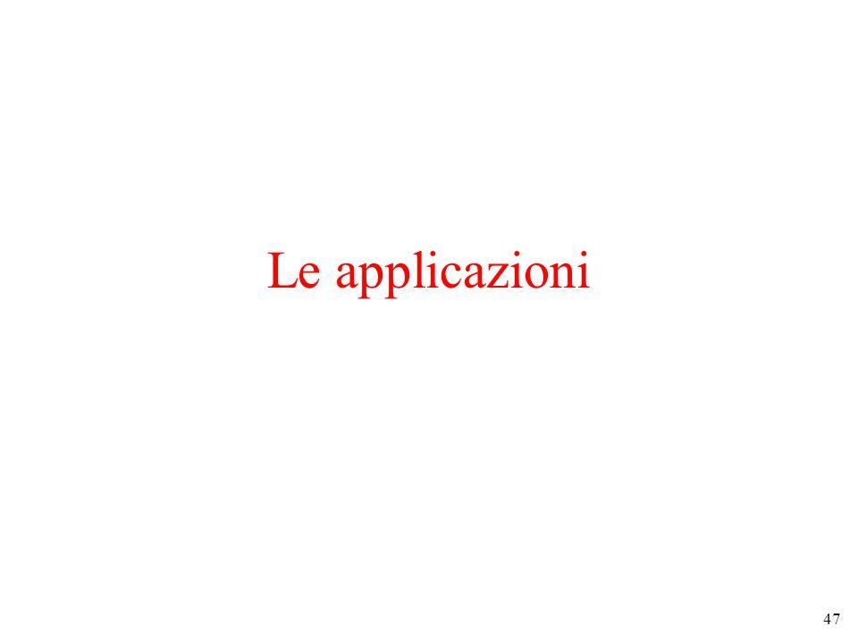 47 Le applicazioni