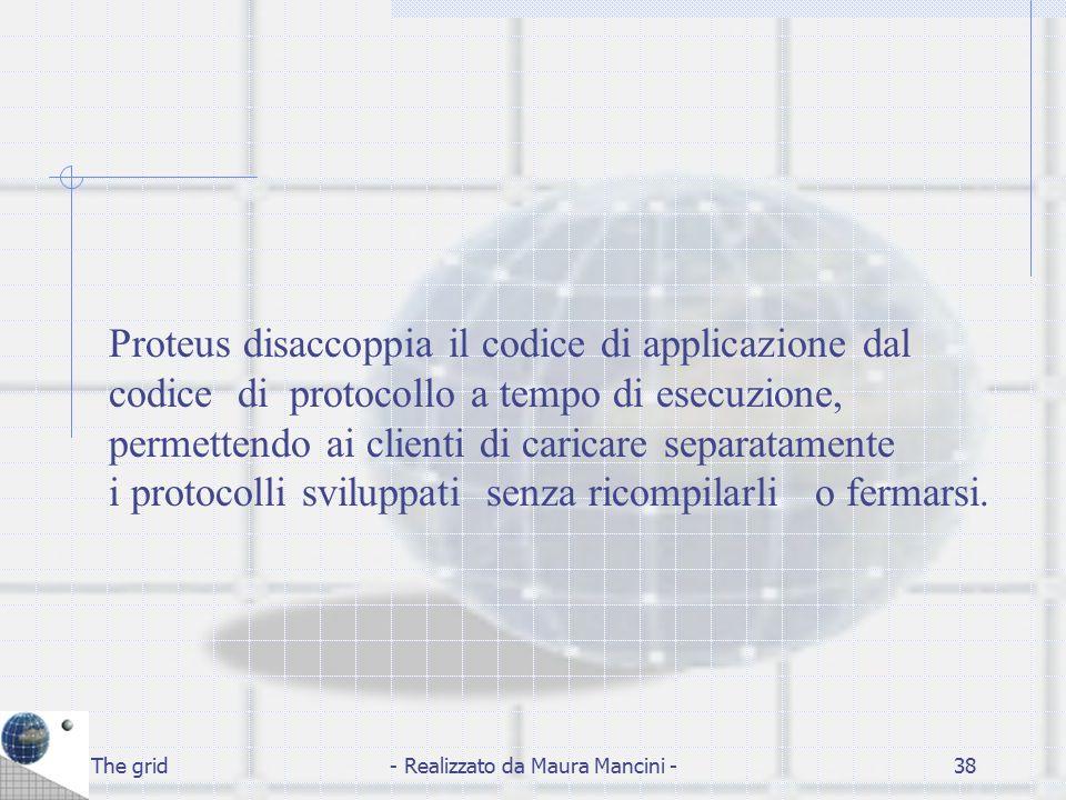 The grid- Realizzato da Maura Mancini -38 Proteus disaccoppia il codice di applicazione dal codice di protocollo a tempo di esecuzione, permettendo ai