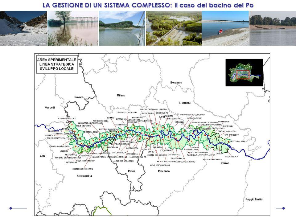LA GESTIONE DI UN SISTEMA COMPLESSO: il caso del bacino del Po 7 ottobre 2008 Progetto Pilota relativo ai territori della Media Valle del Po che coinvolge una novantina di Comuni, da Candia Lomellina (PV) a Motta Baluffi (CR)