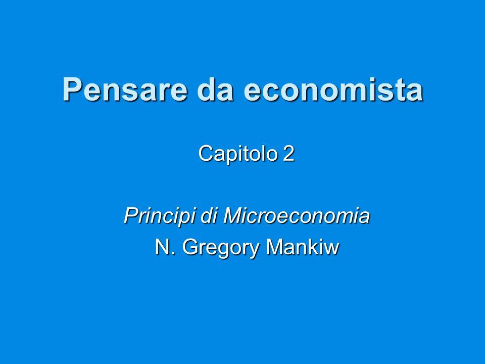 Pensare da economista Capitolo 2 Principi di Microeconomia N. Gregory Mankiw